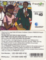 CARIBBEAN ISLANDS - People On Phone, Cable & Wireless Prepaid Card EC$40, CN : 1201, Used - Telefonkarten