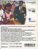 CARIBBEAN ISLANDS - People On Phone, Cable & Wireless Prepaid Card EC$40, CN : 1101, Used - Telefonkarten