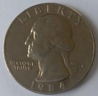 QUARTER  DOLLAR - 1984 - Washington - - 1932-1998: Washington