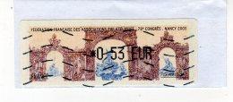 Vignette De Guichet LISA - 78e Congès De Nancy 2005 - Sur Fragment - 1999-2009 Vignette Illustrate
