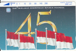 INDONESIA - Flag, 45 Years Of Indonesian Independence(280 Units), Used - Indonesia