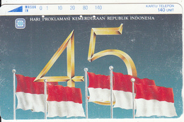 INDONESIA - Flag, 45 Years Of Indonesian Independence(140 Units), Used - Indonesia