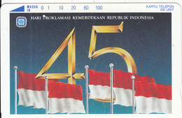 INDONESIA - Flag, 45 Years Of Indonesian Independence(100 Units), Used - Indonesia