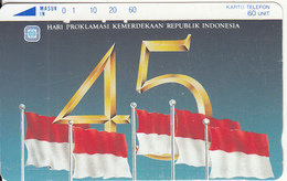 INDONESIA - Flag, 45 Years Of Indonesian Independence(60 Units), Used - Indonesia