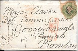 WHITESTONE DEVON EXETER  ENVELOPPE CIRCULEE TO BOMBAY PUNJAB INDIA YEAR 1853 FULL CONTENT INSIDE SUPERBE - Briefe U. Dokumente
