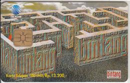 INDONESIA(chip) - Media Bintang, Telkom Telecard 100 Units, Tirage 5000, 11/97, Mint - Indonesia