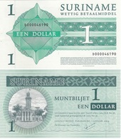Suriname - 1 Dollar 2004 UNC W/holes Lemberg-Zp - Surinam