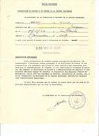 Marine Marchande -Attestation Dilôme Elève Chef De Quart (cachet Inspection Générale De L'enseignement Maritime)St-Malo - Diploma & School Reports