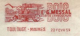 EMA - Toulouse Minimes. Ets MESSAL // BOIS . 1959 - Postmark Collection (Covers)