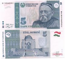 Tajikistan - 5 Somoni 1999 Serie BF UNC Lemberg-Zp - Tajikistan