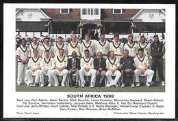 South Africa Cricket Team Photo Postcard 1998 - Edgbaston Test Match Postmark - Cricket