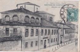 Carte Postale :Santiago De Compostela  (Espagne) Colegio De La Ensenanza   1908 Hauser Y Menet  581 - Santiago De Compostela