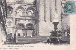Carte Postale :Santiago De Compostela  (Espagne)  La Basilica Puerta De Las Platerias   1908 Hauser Y Menet  575 - Santiago De Compostela