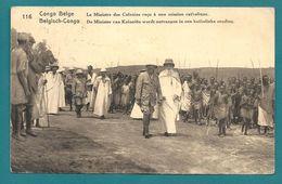 Congo Belge. Ministre Des Colonies Reçu à Une Mission Catholique Pour Bastogne (Belgique) - Congo Belge