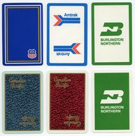 6 US RAILWAY PLAYING CARDS : ALL DIFFERENT - Railway