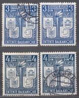 Yugoslavia Kingdom 1940 Mi#422-425 Used - 1931-1941 Reino De Yugoslavia