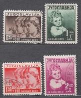 Yugoslavia Kingdom 1938 Mi#350-353 Used - 1931-1941 Königreich Jugoslawien