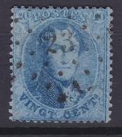 N° 15 B  LP 23  AVELGHEM - 1863-1864 Medallones (13/16)