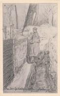 AK An Der Schießscharte - Deutscher Soldat Im Schützengraben - Künstlerkarte Birkmeyer - 1. WK (33062) - Weltkrieg 1914-18