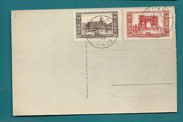 ALGÉRIE Française - YT#89+91 Obl. D'AÏN El ARBAA ORAN S/CPA -1931 - Lettres & Documents