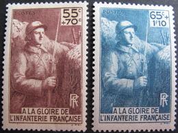 Lot FD/728 - 1938 - A LA GLOIRE DE L'INFANTERIE - N°386 à 387 NEUFS* - Frankreich