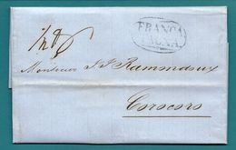 Lettre De TACNA (Pérou) Pour COROCORO (Bolivie) -1858 - Peru