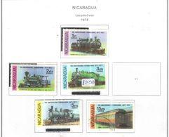 Nicaragua 1978 Locomotive   Scott.1079/1081+1083/1084+See Scans On Scott.Album - Nicaragua