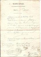 MARINE ROYALE - Ordre D'embarquer Sur LA DANAÏ - Port De BREST - 1844 // Contre-amiral KERDRAIN - Postmark Collection (Covers)