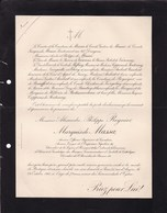 PARIS Alexandre Marquis De MASSA Ancien écuyer De L'Empereur Napoléon III  79 Ans 1910 Ordre De La GUADELOUPE Du MEXIQUE - Overlijden