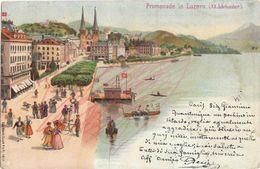 PROMENADE IN LUZERN (XX JAHRHUNDERT) - SPEDITA DALL'ITALIA - 24/06/1902 - RETRO UNITO - LU Lucerne