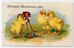 CPA Appareil Photo Caméra Circulé Poussins Humanisés - Fotografía
