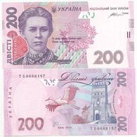 Ukraine - 200 Hryven 2014 Gontareva UNC Lemberg-Zp - Ukraine