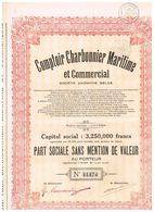 Action Ancienne - Comptoir Charbonnier Maritime Et Commercial - Titre De 1928 - - Industrie