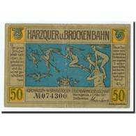 Billet, Allemagne, Wernigerode, 50 Pfg, Personnage, 1921-03-01, SPL, Melh:1406 - Germany