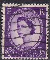 GB 1956 QE2 3d Deep Lilac Wilding SG 545 Wmk 165 ( H657 ) - 1952-.... (Elizabeth II)
