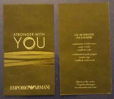 TARJETA PERFUMADA EMPORIO ARMANI - STRONGER WITH YOU. - Cartas Perfumadas