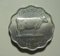 Guernsey 3 Pence 1959 - Guernsey