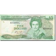 Billet, Etats Des Caraibes Orientales, 5 Dollars, 1985-1987, Undated - Caraïbes Orientales