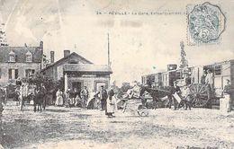 50 - REVILLE - La Gare, Embarquement Des Pommes De Terre. 1903 - France