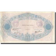 France, 500 Francs, 1940-01-11, KM:88c, TTB, Fayette:31.56 - 1871-1952 Anciens Francs Circulés Au XXème