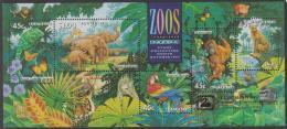 """AUSTRALIA - USED 1994 Zoos Souvenir Sheet, Overprinted """"Stamp Show 94, Freemantle Western Australia"""" - 1990-99 Elizabeth II"""
