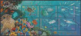 "AUSTRALIA - USED 1995 World Down Under Souvenir Sheet, Overprinted ""Melbourne Stamp And Coin Fair"" - 1990-99 Elizabeth II"