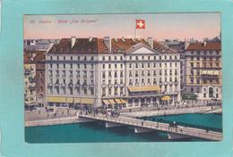 Small Postcard Of Hotel Les Bergues,Geneve,Geneva, Switzerland,Q87. - GE Geneva