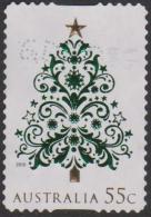 AUSTRALIA-DIE-CUT- USED 2013 55c Christmas - Tree Foil Embossed - 2010-... Elizabeth II
