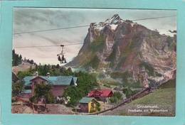 Small Postcard Of Firstbahn Mit Wetterhorn,Grindelwald,Interlaken-Oberhasli,Berne,Switzerland,Q87. - GE Geneva