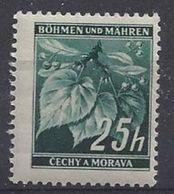 Germany (Bohmen Und Mahren) 1939-42 Lindenzweig (**) Mi.23 - Besetzungen 1938-45