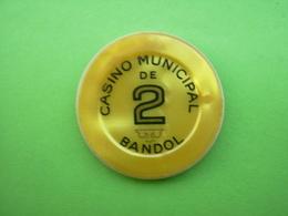 Jeton Casino 2fr Casino Municipal De Bandol - Casino