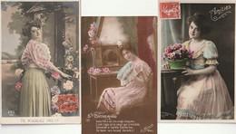 LOT De 3 CPA FEMME ( TOUTES En Très Très Bon état) TI 992 ) - Femmes
