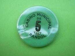 Jeton Casino 1fr Casino Municipal De Bandol - Casino
