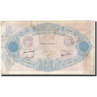 France, 500 Francs, 1937-08-05, KM:88a, TB+, Fayette:31.1 - 1871-1952 Antichi Franchi Circolanti Nel XX Secolo